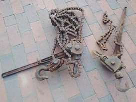 2 × Old Manual Chain Hoists (Each)