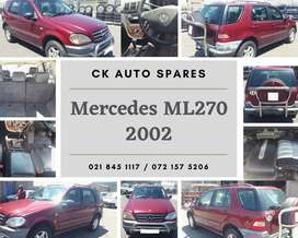 Mercedes ML270, 2002 stripping for spares.