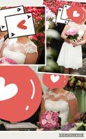 Свадебное платье миди Emmanuela