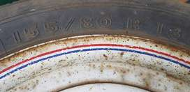 Trailer rim and tyre