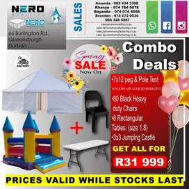 Peg and pole tent combo deal