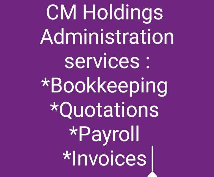 Administration services: Bookkeeping payroll invoices quotations