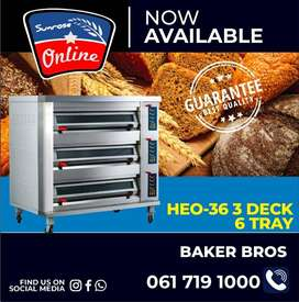 HE0-36 3 DECK 6 TRAY ELECTRIC BAKING OVEN