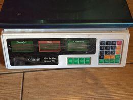 торговые электронные весы. 2 экрана. до 40 кг.