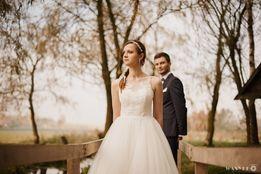 Suknia ślubna Cheryl tiul koronkowa góra księżniczka 34/36