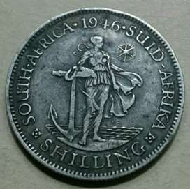 Rare 1946 S.A silver shilling (mintage only 26924)