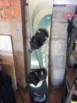 Snowboard rossignol wiązania deska