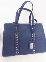 Torebka kufereK LIU JO granatowa niebieska torba elegancka biznesowa