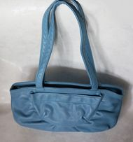 голубая сумка кожзам синяя