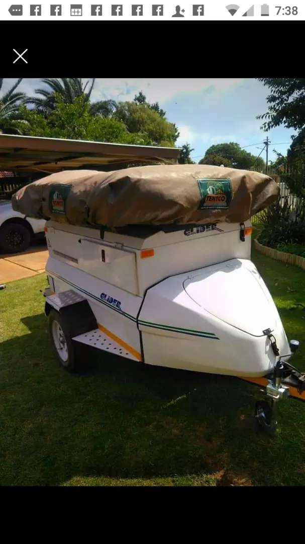 Glider Camping Trailer with Tentco Roof Top tent 0