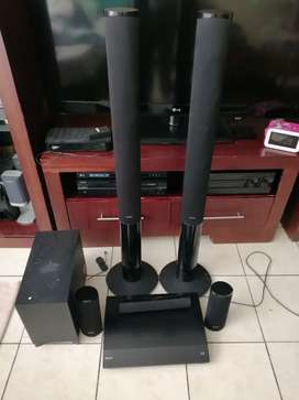 Sony hometheatre speakers and subwoofer only