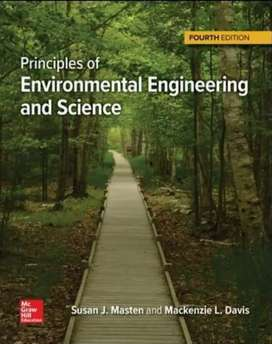 Textbook : Principles of Environmental Engineering and Science