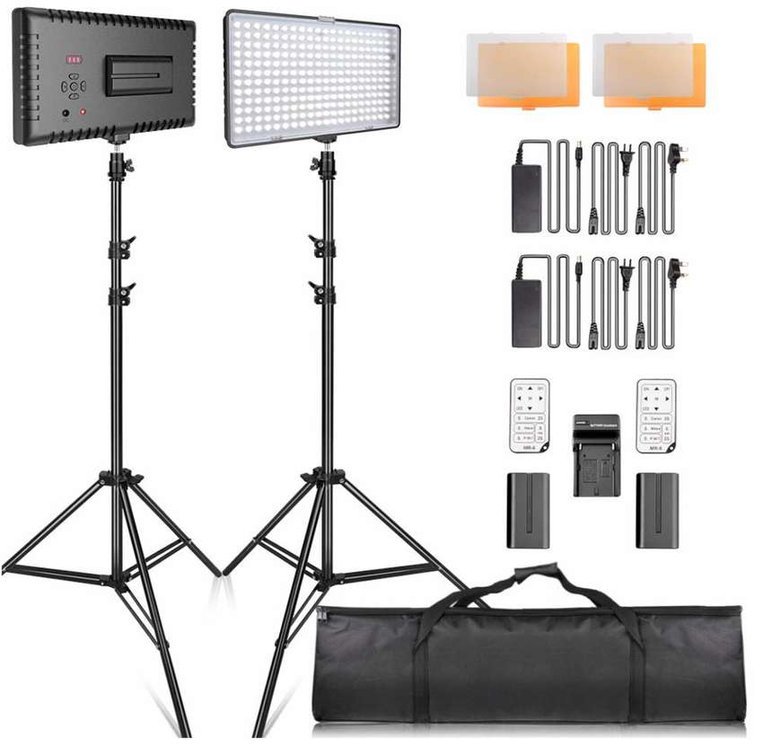 LED Video Lighting Kit with Stand LED camera lighting 240pcs 3 0