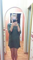 Продам платье с кожаными вставками