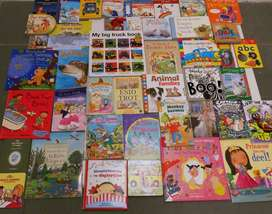 Selection of children's books available at our various stores.