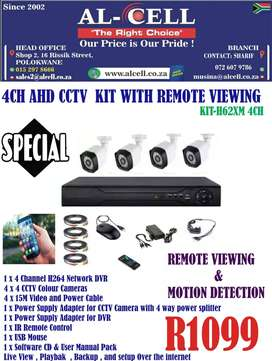 4CH AHD CCTV KIT WITH REMOTE VIEWING KIT-H62XM 4CH
