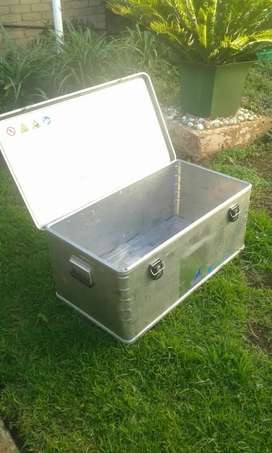 Stainless Zarges steel travel box (container)