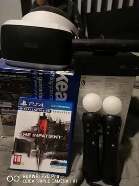 PS4 VR headset with Camera and 2 PS4 move contollers
