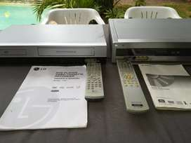 Sony and/or LG DVD-VHS player.