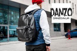 Рюкзак кожаный TRIGGER экокожа мужской портфель черный сумка