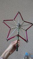 Редкая елочная верхушка звезда 1930-1940 больших размеров