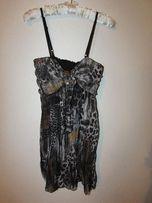 Sukienka tunika w lamparci wzór rozmiar S/M