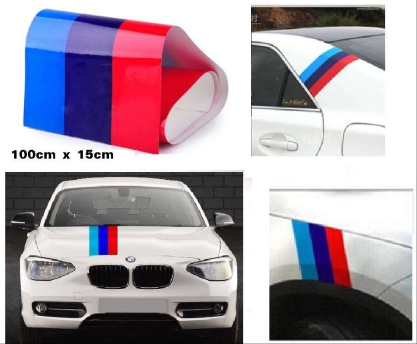 BMW 3 colour stripes decals stickers 0