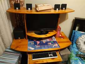 Computer Stand including chair