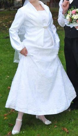 Sprzedam śliczną suknię ślubną z koronki. Przeworsk - image 1