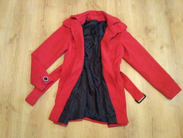 Płaszcz zimowy r 40 czerwony Mołożów - image 2