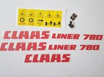 Claas liner 780 zgrabiarka naklejki