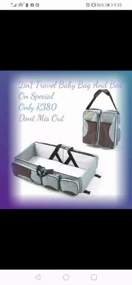 2in1 baby bag and bed