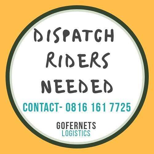Dispatch Riders Needed At Ilupeju 0