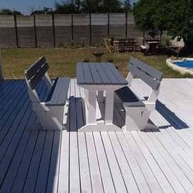 Benches and patios