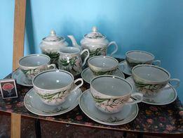 Фарфоровый чайно-кофейный сервиз. Чайный сервиз. Кофейный сервиз
