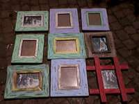 Rustic,distressed picture frames 0