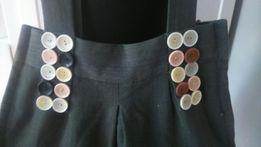 Torba handmade z dresówki guziki