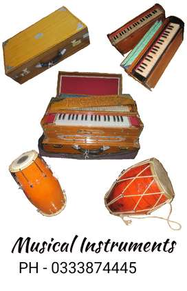 Wide range of Indian musical instruments