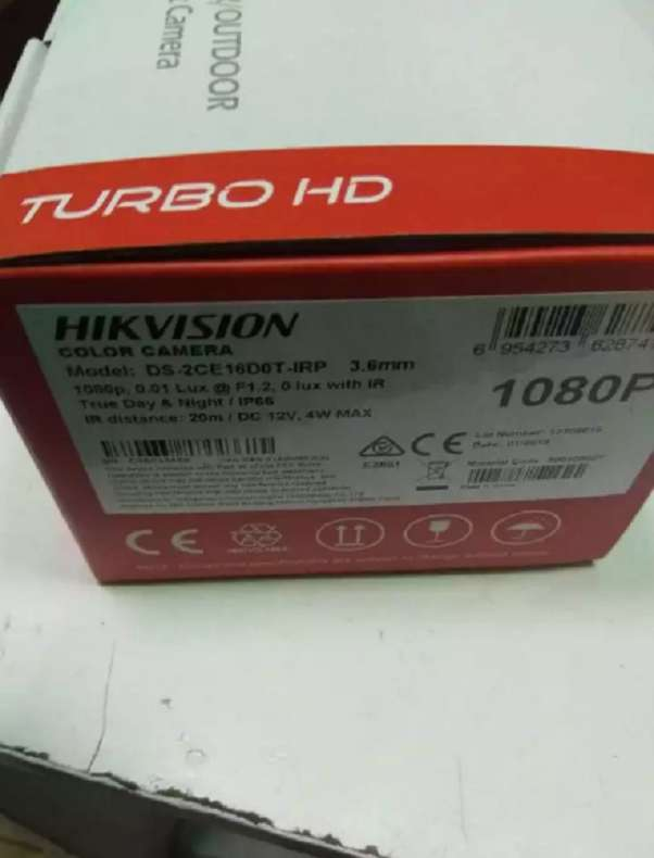 2MP HIKVISION OUTDOOR TURBO HD BULLET CCTV CAMERA DS 2CE16D0T IR 1080P 0