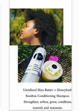 Unrefined Shea Butter + Rooibos Honeybush Conditioning Shampoo