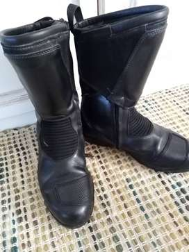 Mens Leather BMW  Motorcycle boots Size 9