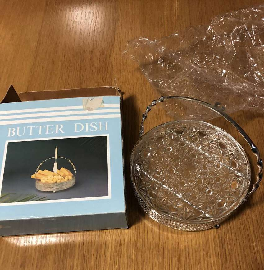 Butter dish brand new never used in original packaging