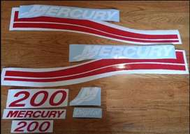 Mercury outboard motor stickers decals sets
