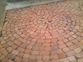 I am doing quality paving with broken mampara bricks