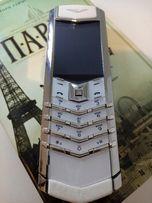Мобильный телефон копия Vertu Signature S Design Steel White. Супер.
