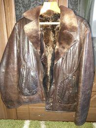 Куртка кожаная теплая.