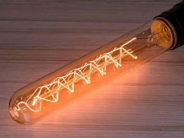 Эксклюзив Лампа Эдисона T30-185 Спиральная Ретро Лампочка Эдисона