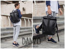 Ролл топ рюкзак кожаный WLKR BAD спортивный для тренировок сумка