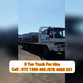 8 ton truck for hire