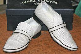 Туфли свадебные 41-42 белые под костюм.